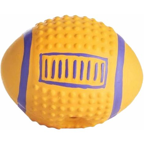 Sharples Squeaky American Football Dog Toy (7.6in) (Yellow/Blue)