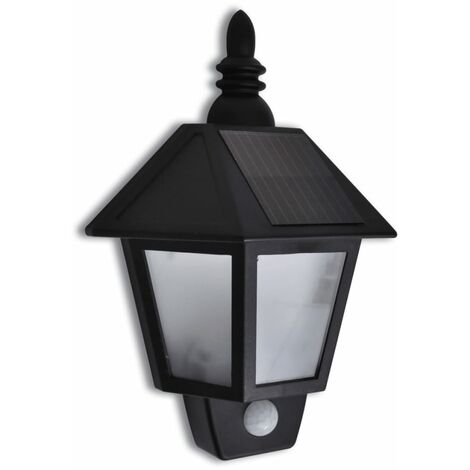 Sharpsburg LED Solar Outdoor Wall Light with Motion Sensor by Ophelia & Co. - Black