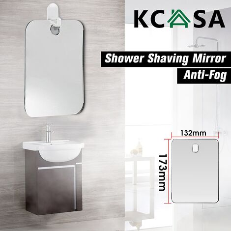 Shaving Shower Glass Reflection Bathroom Makeup Mirror Fog Free