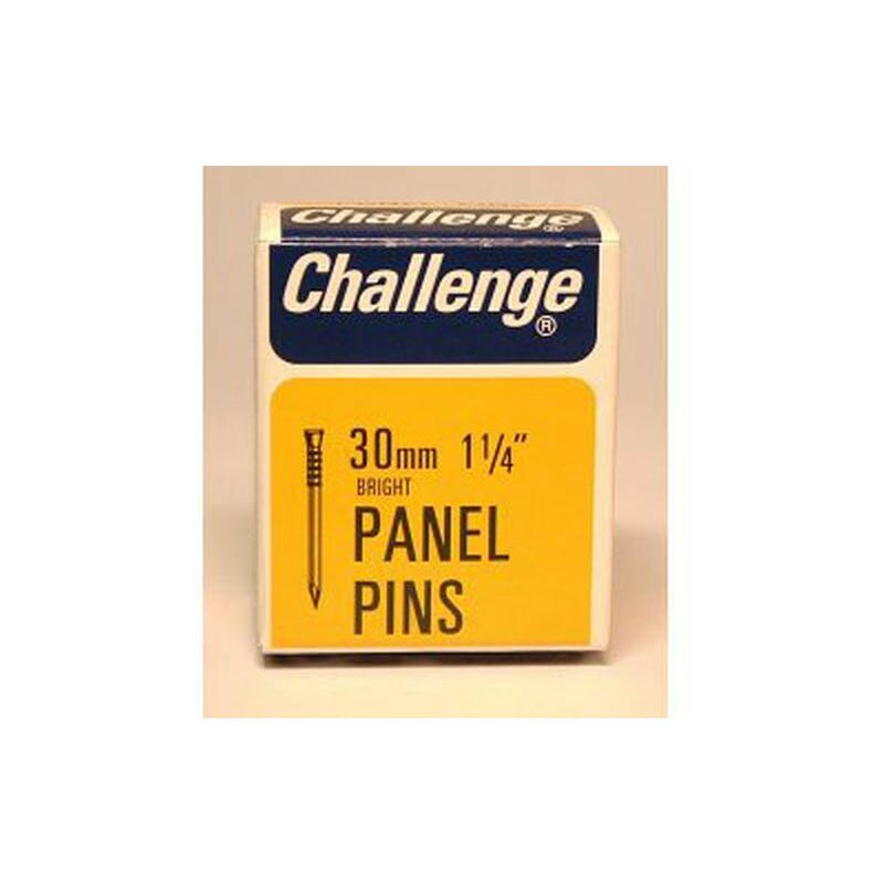 Challenge Panel Pins - Bright Steel (Box Pack) 30mm - 10610