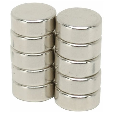Shaw Magnets - Neodymium Disc Magnets - 10 x 4mm - Pack of 10