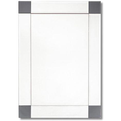 Shaw Rectangular Designer Mirror with Smoked Corners 500mm x 700mm