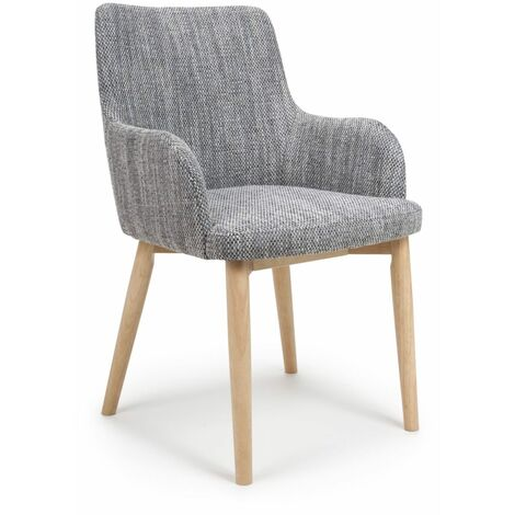 """main image of """"Shaw Tweed Grey Dining Chair"""""""