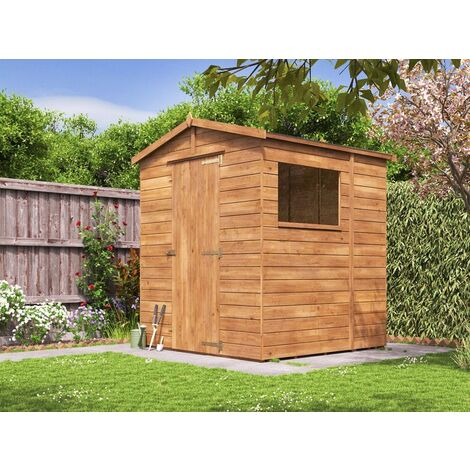 Shed 6x6 Adam - Heavy Duty Apex Pressure Treated Wooden Garden Building Storage Bike Shed with Roof Felt