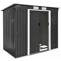 Shed with slanted roof - garden shed, metal shed, tool shed