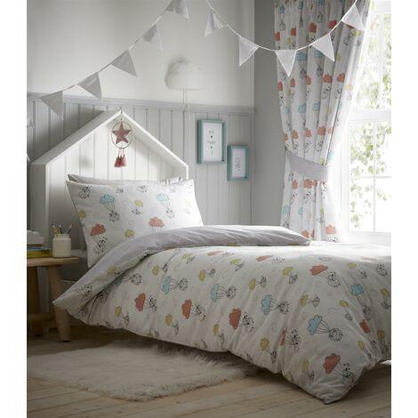 Sheep Dreams Children's Duvet Cover Set Double Reversible Bedding Set