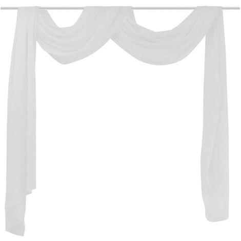 Sheer Voile Drape 140 x 600 cm White