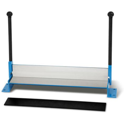 Sheet metal folder bending machine (working width 460mm, sheet thickness up to 0,8mm, bending radius 90°, swivel radius 110°, weight 6kg)