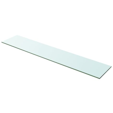 Shelf Panel Glass Clear 100x20 cm