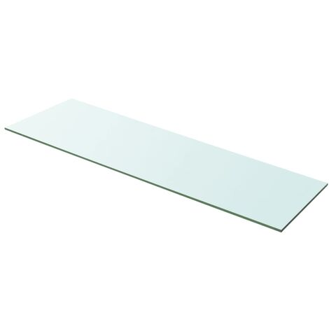Shelf Panel Glass Clear 100x30 cm