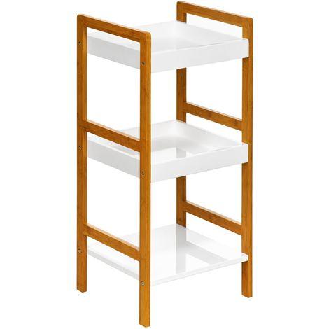 Shelf unit,3 tier, medium-density fibreboard / white high gloss finish