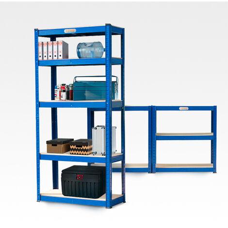 Shelf with metal racks 150x70x30 cm 5 racks 950 kg ELEMENT