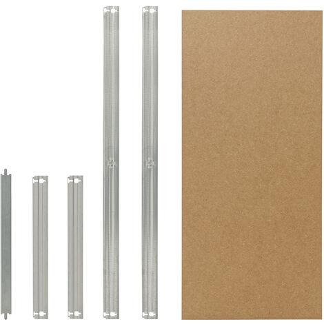 shelfplaza® HOME HDF-Boden Komplett Set für Steckregale 80x60 cm in verzinkt