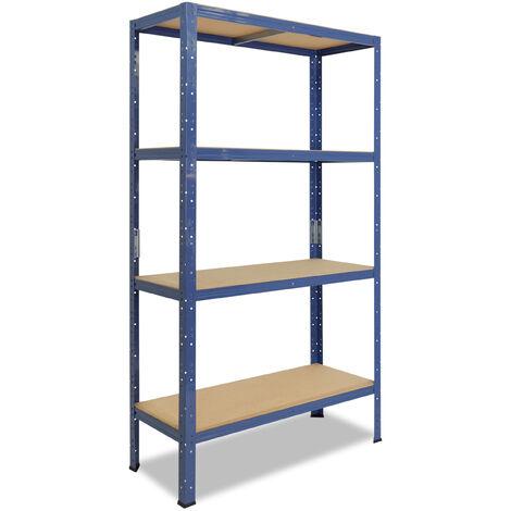 shelfplaza® HOME Steckregal 180x90x40 cm blau mit 4 Böden