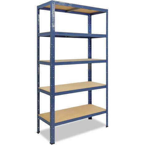 shelfplaza® HOME Steckregal 180x90x40 cm blau mit 5 Böden