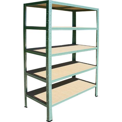 shelfplaza® HOME Steckregal 180x90x40 cm grün mit 5 Böden