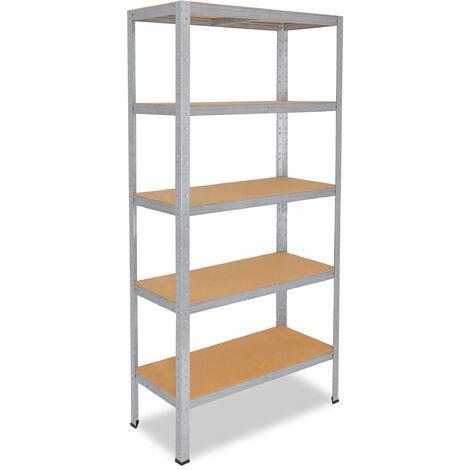 shelfplaza® HOME Steckregal 200x45x30 cm verzinkt mit 5 Böden