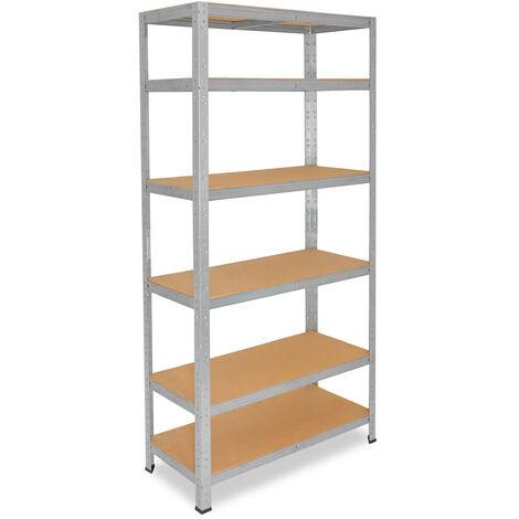 shelfplaza® HOME Steckregal 200x50x30 cm verzinkt mit 6 Böden