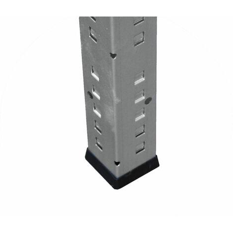 shelfplaza® PROFI Eckregal 230x80x50 cm verzinkt mit 7 Böden - Steckregal für unsere 50 Tiefen