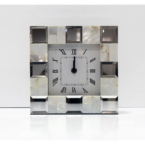 Shell and Mirror Desk Clock