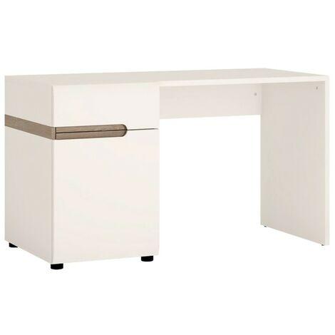 Shell Desk in white an Truffle Oak Trim