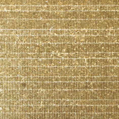 Shell wall covering WallFace CSA07-4 CAPIZ non-woven wallpaper hand-crafted with real Capiz shells mother-of-pearl look gold brown 9.80 m2 roll
