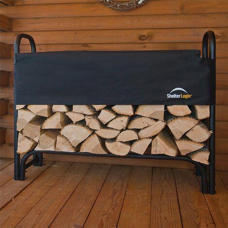 Rowlinson Shelterlogic 1.2m Steel Log Rack Firewood Storage Store & Cover