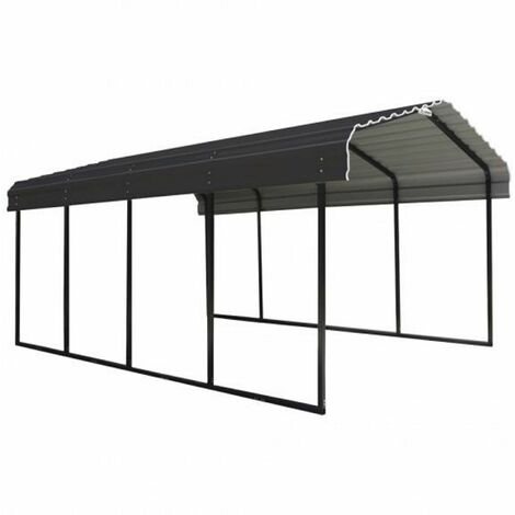 "ShelterLogic Carport ""Mailand"" schwarz 610 x 300 x 250 cm (L x B x H)"