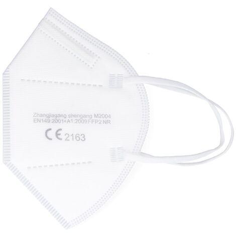 Shengang 100x FFP2 Maske CE zertifiziert Apotheken konform Mund Atem Nasen Schutz 5-Lagig ISO9001:2015 / EN149 2001 A1:2009