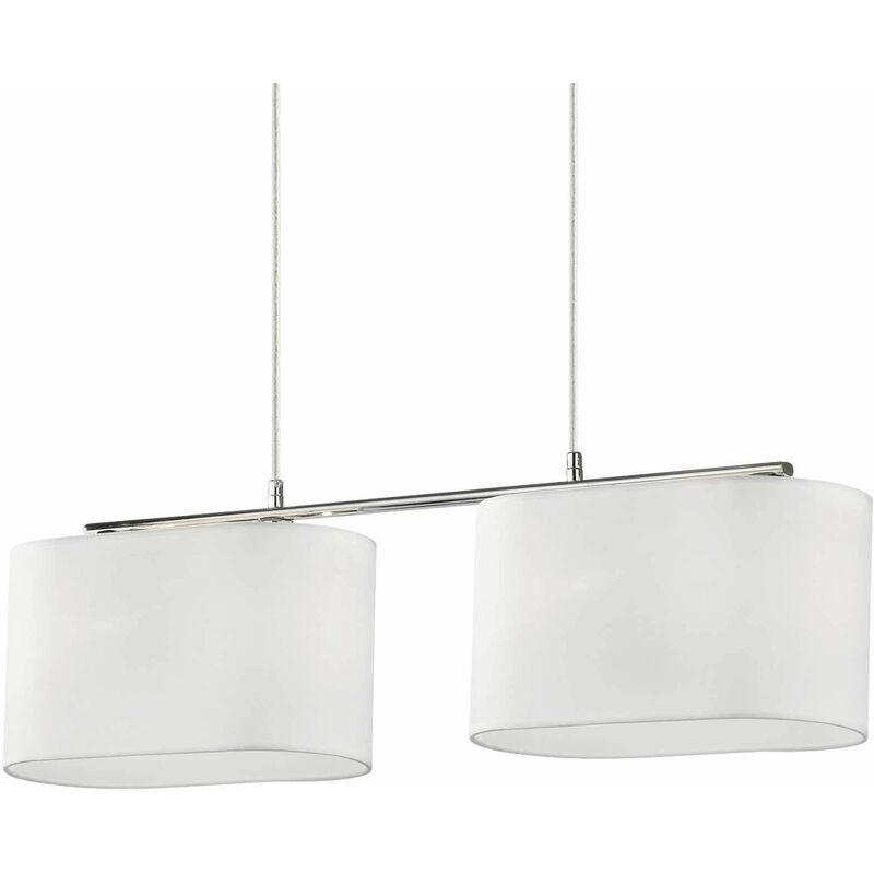 01-ideal Lux - SHERATON weiße Pendelleuchte 4 Glühbirnen