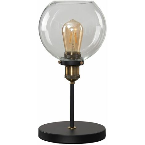 Sheridan Table Lamp With Clear Glass Shade - No