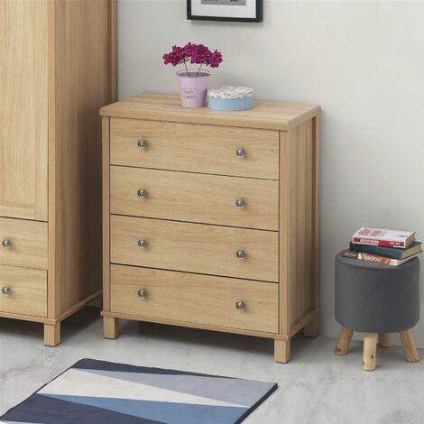 Sherwell Bedroom 4 Chest of Drawers Cabinet Warm Oak