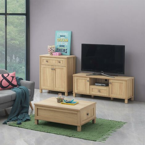 Sherwell Living Room Set Coffee Table Compact Sideboard TV Unit