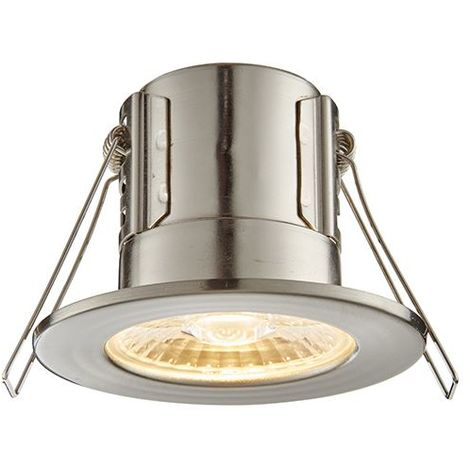 Shieldeco 500 IP65 4W Warm White Down Ceiling Recessed Light - Satin Nickel