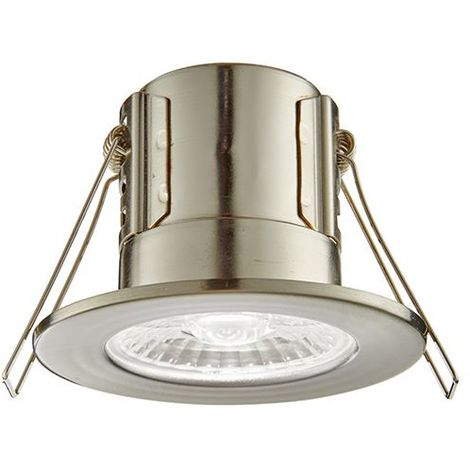Shieldeco 800 Ip65 8.5W Cool White Down Ceiling Recessed Light - Satin Nickel