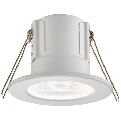 Shieldeco 800 Ip65 8.5W Cool White Recessed - Matt White Painted Downlight