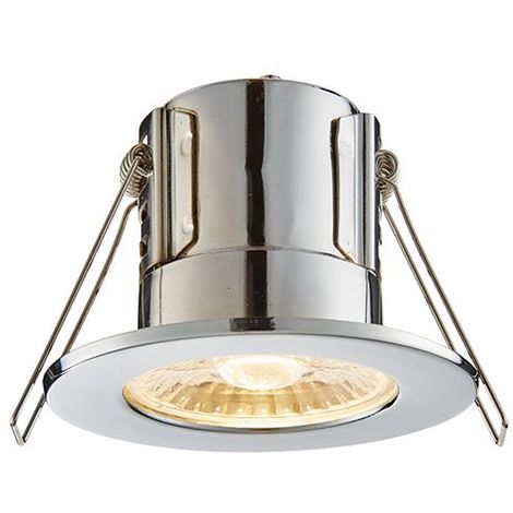 Shieldeco 800 Ip65 8.5W Warm White Round Ceiling Recessed Light Chrome Plate