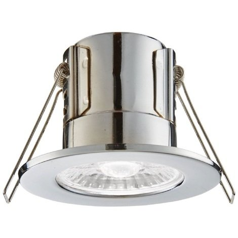 ShieldECO Chrome Bathroom Downlight IP65 4W Dimmable Cool White Light