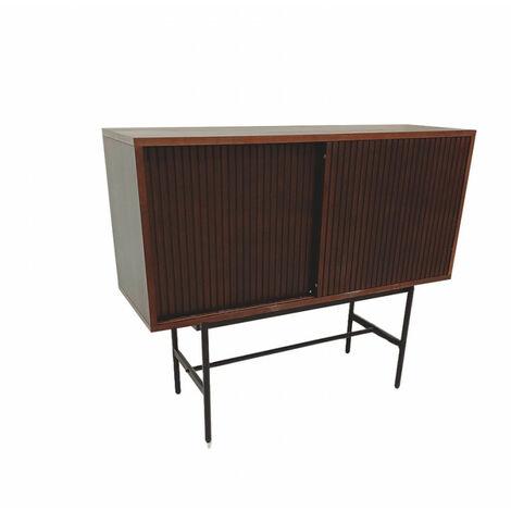 SHIITO- Mueble Auxiliar con puertas correderas modelo KIRAN en color nogal