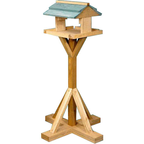 Shillings Timber Bird Table (One Size) (Beige/Green)