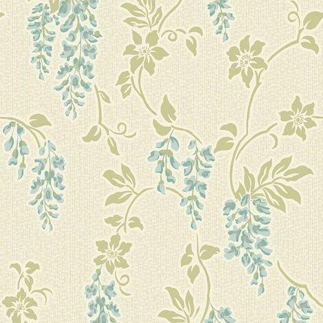 Shiro Teal Green Floral Wallpaper Holden Decor Textured Glitter Vinyl