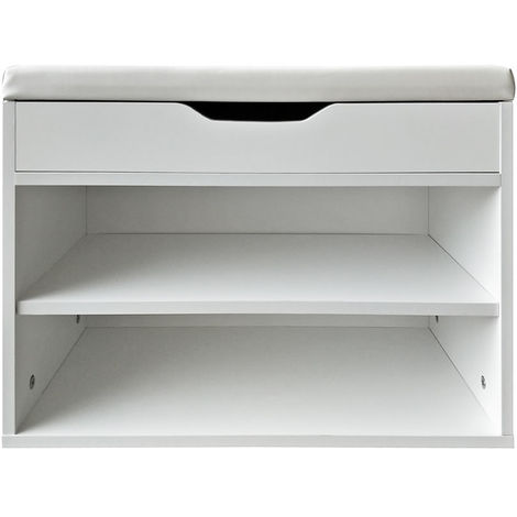 Shoe bench Seat bench Shoe cabinet Shoe shelf Shoe rack Seat bench White corridor bench