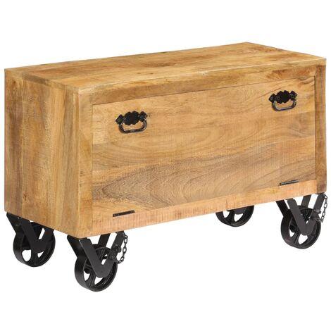 Shoe Cabinet 86x35x55 cm Solid Mango Wood
