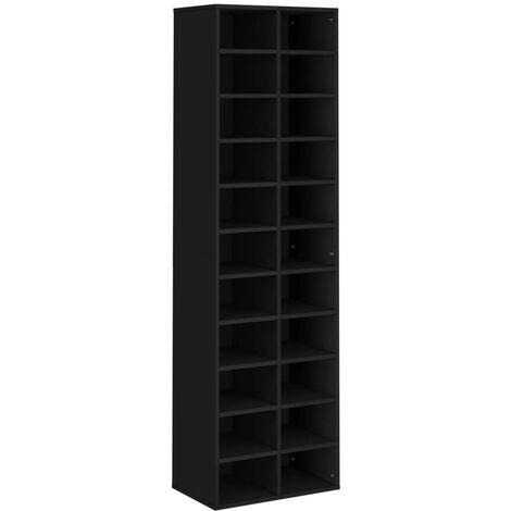 Shoe Cabinet Black 54x34x183 cm Chipboard