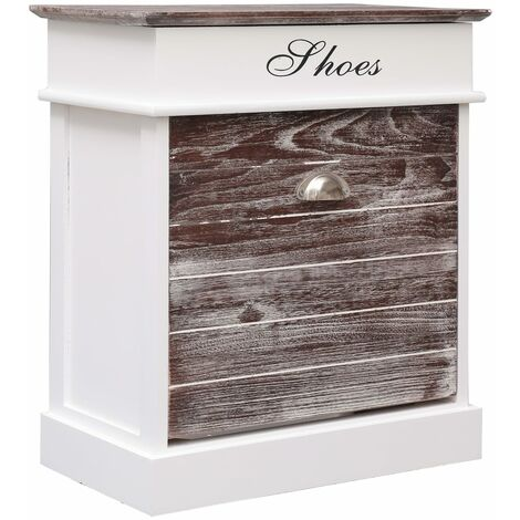 Shoe Cabinet Brown 50x28x58 cm Paulownia Wood