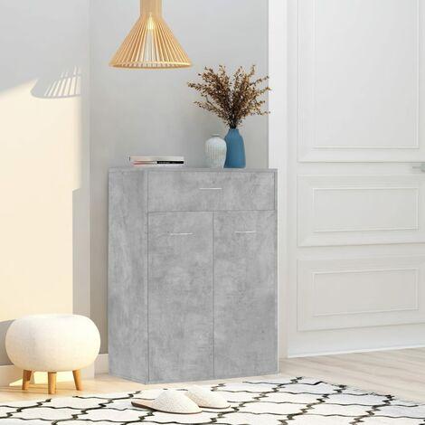 Shoe Cabinet Concrete Grey 60x35x84 cm Chipboard - Grey
