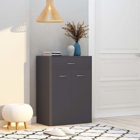 Shoe Cabinet Grey 60x35x84 cm Chipboard - Grey