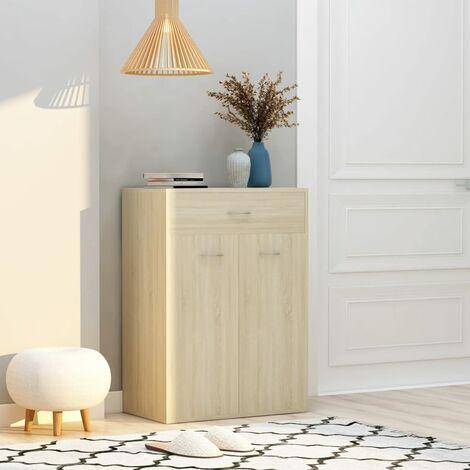 Shoe Cabinet Sonoma Oak 60x35x84 cm Chipboard