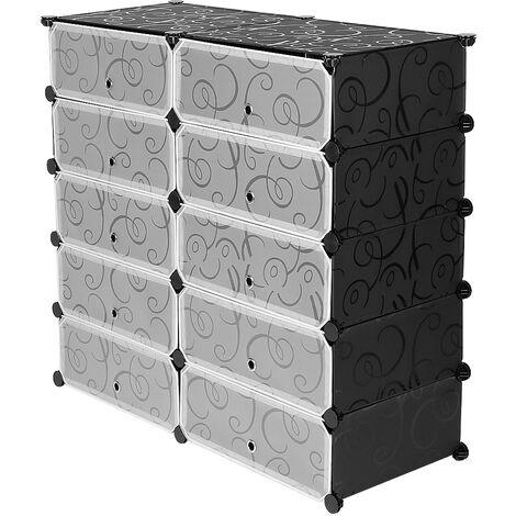 Shoe Cabinet Wardrobe DIY Modular Shoe Rack 10 Cubes