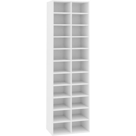 Shoe Cabinet White 54x34x183 cm Chipboard